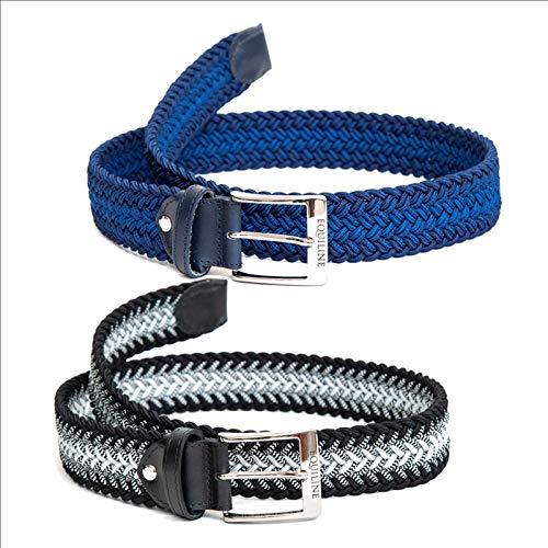 Equiline Gürtel, geflochtener Gürtel Xander elastisch, dehnbar Farbe schwarz/grau, Größe 100cm