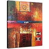 Raybre Art® Modernos Cuadros Abstractos Pintada a Mano sobre Lienzo Pinturas de óleo para Dibujos Pared Decoración Hogar Sala Cocina Dormitorio(Sin marco)