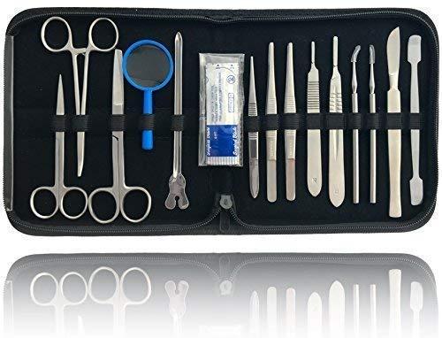 Präparierbesteck Sezierbesteck Set zum Präparieren mit Instrumenten aus Edelstahl -