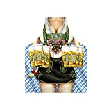 Schürze = Oktoberfest Frau = Grillschürze mit Motiv Kochschürze Küchenschürze Latzschürze