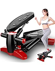 Canness-Fitness Hometrainer Mini Stepper Up-Down avec Affichage LED (Couleur : Red+Black)