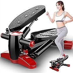 Máquina de Step, Entrenamiento Stepper Mini Entrenador de Ascenso y Descenso con Pantalla LED (Color : Red+Black)
