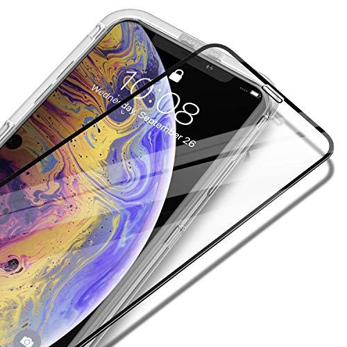 UNBREAKcable Verre Trempé iPhone XR 6.1 Pouces, [Couverture Complète] Film Protection écran en Verre Trempé pour Apple iPhone XR [Anti-Fissures, 3D Touch, Facile à Installer] - Bordure Noire