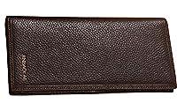 Tina Men's Mini Long Carry-On Money Clip Card Holder Cash Purse Wallet Coffee