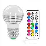 (Pack of 6)Lennystone® Led 5W RGB Light Bulbs, Glühbirne Glühlampe LED Leuchtmittel Farbwechsel Licht mit IR Fernbedienung,Dimmbar Scheinwerfer Dekorative Beleuchtung (5W E27 6Pcs)