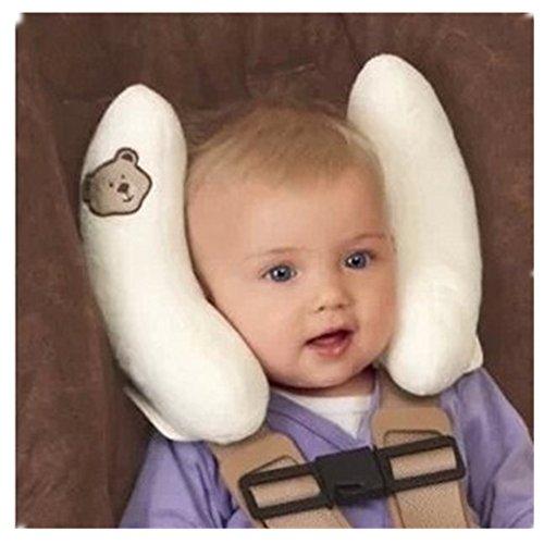 Preisvergleich Produktbild Kinder Baby Auto Platz Nackenstütze Halswirbel Reise Schützen Kissen Nackenkissen Kopfkissen für Kinderautositze Kinderwagen (Weiß)