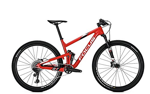 Focus O1E Pro 29R Fullsuspension Mountain Bike 2018 (M/45cm, Red/White)