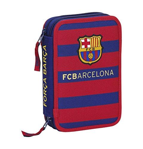 F.C. Barcelona Safta 411529054 Plumier Double 34 pièces 14 x 21 cm