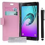 zStarLn® rose Luxe Portefeuille Etui Housse pour Samsung Galaxy A3 2016 Coque en cuir + 3 Films en Stylet Touch Pen OFFERTS