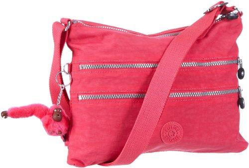 Kipling Damen ALVAR Umhängetasche Pink (Verry Berry) Rot (Peony 183)