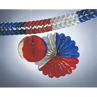 Kogler Nationen Deko-Set in Tasche, Karton, Papier, Blau/Weiß/Rot, Einheitsgröße