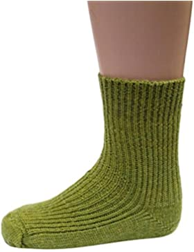 Hirsch Natur, Grobstrick Socken Baby und Kinder, 100% Wolle (kbT)