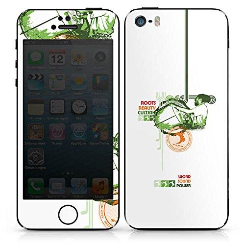 Apple iPhone 4s Case Skin Sticker aus Vinyl-Folie Aufkleber Jamaika Peace Rasta DesignSkins® glänzend