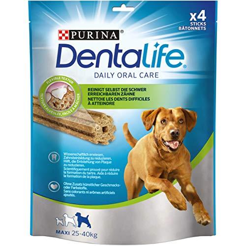 Purina DentaLife Maxi Tägliche Zahnpflege-Snacks für große Hunde, 5er Pack (5 x 142 g)