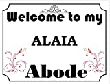 Welcome to My Abode Alaia Vintage Stil Metall Wandschild (4796) – Größe ca 280 mm x 205 mm