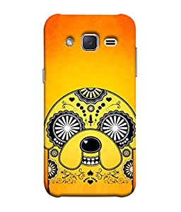 PrintVisa Designer Back Case Cover for Samsung Galaxy J2 J200G (2015) :: Samsung Galaxy J2 Duos (2015) :: Samsung Galaxy J2 J200F J200Y J200H J200Gu (Style Anime Artistic Pattern Nature Animated Character Magic Beautiful Orange)