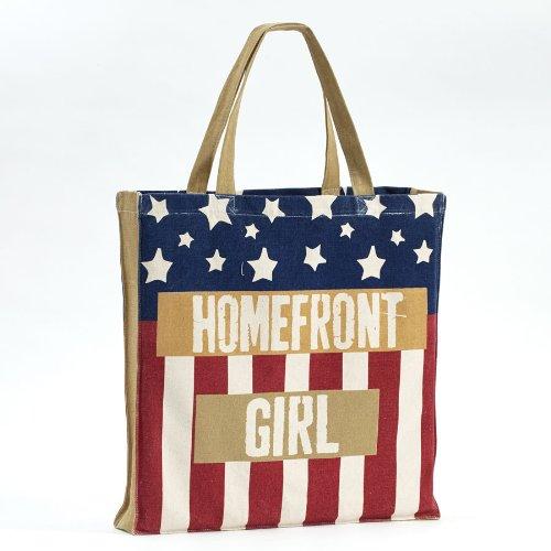 Preisvergleich Produktbild Enesco Homefront Girl American Flag Tote, 16,7 cm