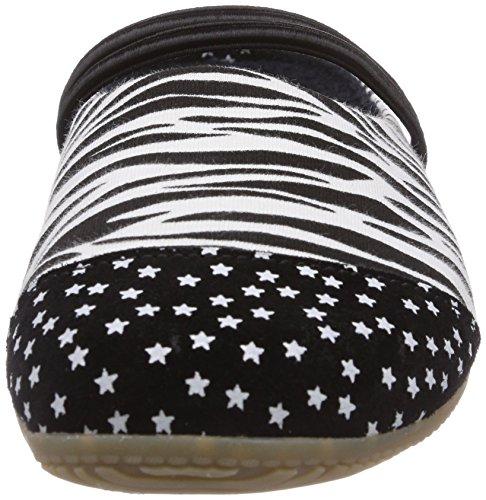 Living Kitzbühel Zebra Damen Pantoffeln Schwarz (909 schwarz-weiß)
