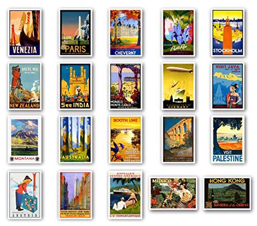 Postkarten, Vintage-Stil, 20 Stück Postkarten Vielfältige Postkarten im Retro-Stil Hergestellt in den USA.