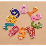 CraftDev Wooden Fridge Magnet Numbers 0-9 Kids Educational Toy Baby Gift MultiColor