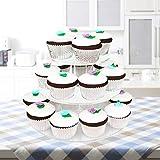 4-Etagen Cupcake Ständer, Tortenständer, Klar Runde Acryl - Hält bis zu 30 Cupcakes! Elegant Desserts Muffin Sushi Halter - Hoch Qualität & Haltbarer für Hochzeit, Geburtstage, Baby-Duschen. - 6