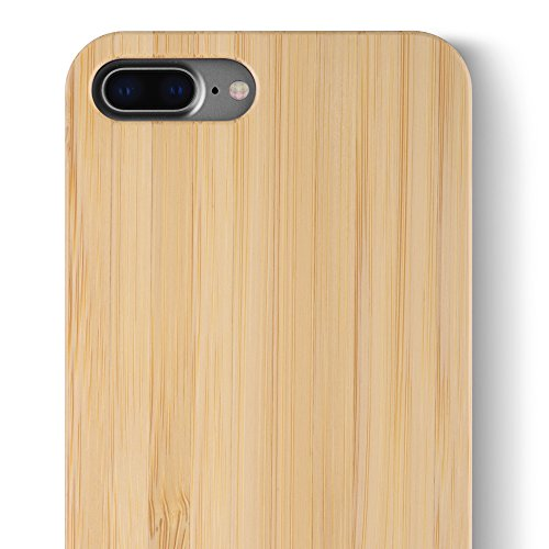 buy popular af6d1 c712a iCASEIT iPhone 8 Plus Wood Case - Premium Finish Unique Cases - Lightweight  Natural Wooden Hybrid Snap-on Protective Cover for iPhone 7 & 8 Plus - ...