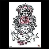 zgmtj Nuevas Pegatinas de Tatuaje Impermeables y ecológicas pintadas a Mano. TH-591 148 * 210MM