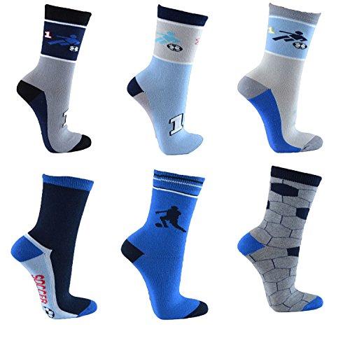Kinder Socken,6Pack35/38,football -