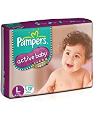Pampers Active Baby Large Size Diapers (78 count)