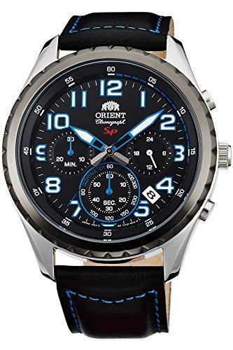 Orient Reloj Cronógrafo para Hombre de Cuarzo con Correa en Cuero FKV01004B0