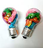 #8: Art box latest beautiful BULB shaped containing 10 toffee style erasers ( set of two ) 2 bulbs