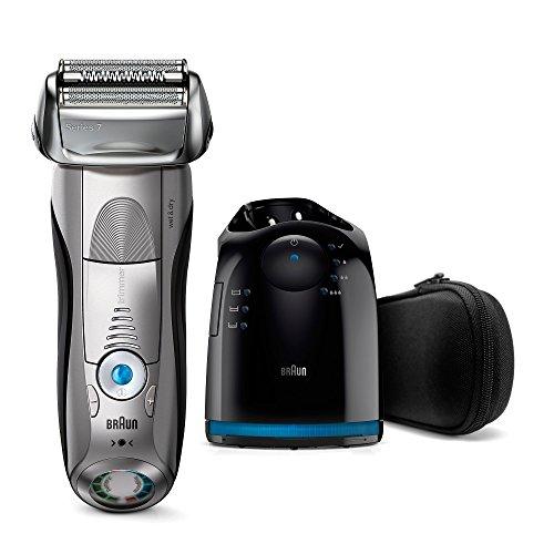 Braun Series 7Elektrischer Rasierer 7899CC, mit Reinigungsstation Clean&Charge, silber