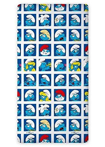 Preisvergleich Produktbild Bettlaken 160x200 Schlümpfe Kinderbettlaken Smurfs 02 Disney