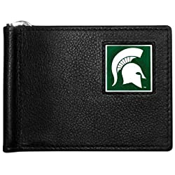 NCAA Michigan State Spartans Leather Bill Clip Wallet
