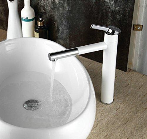 Hiendure® ruotabile Bianco Pittura Bagno Cucina Lavello Miscelatore rubinetteria monoforo singolo