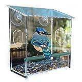 Fenster Bird Feeder Vogelhaus mit starken Saugnäpfen, SOONHUA Modern Plexiglas Heavy Duty Saugnäpfe Fenster, Tür, Vogelfutterspender Birdhouse- beste Geschenk für Vogelliebhaber , Kinder und Haustiere