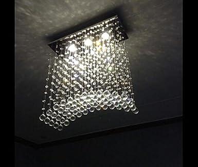 Ella Fashion® Moderne Crystal Regen Fallen Führte Kronleuchter Beleuchtung  Decke Lichtanlage Schlafzimmer Mit Lebenden Deckenleuchten L19.7 X W7.9 X  H22.8 ...
