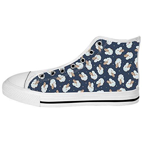 (Dalliy Schaf Muster Men's Canvas shoes Schuhe Lace-up High-top Sneakers Segeltuchschuhe Leinwand-Schuh-Turnschuhe)