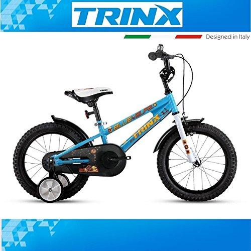 Bicicletta per bambini trinx Blue Elf 2.0bambini 16pollici ruotine cestino