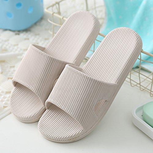 DogHaccd pantofole,I bagni sono freschi in estate donna sandali ciabattine stare a casa durante il periodo estivo e la vasca da bagno le coppie maschio piscina incantevole e raffreddare le pantofole Grigio2