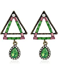 f391006e0e68 Pendientes geométricos triangulares huecos y perforados de cristal