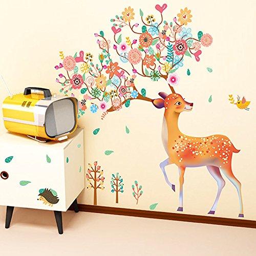 ybfq-las-habitaciones-son-artes-creativas-salon-escenario-dormitorio-la-termita-ciervos-sika-pegatin