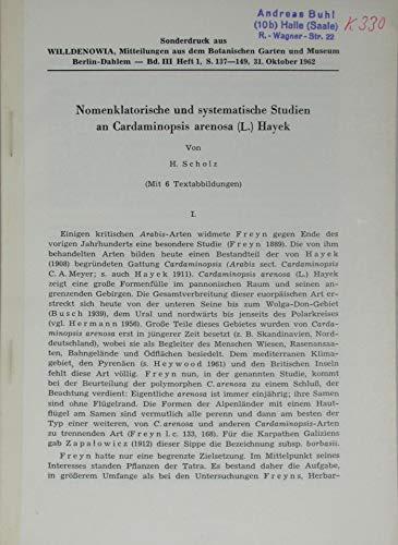 Nomenklatorische und systematische Studien an Cardaminopsis arenosa (L.) Hayek