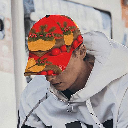 Bauernhaus Mit Weihnachtsschmuck Einstellbare Baseballmütze Druck Baseballmütze Papa Hut 100% Baumwolle Weich Passt Männer Frauen Unisex Hip-Hop Sport Sommer Strand Aktivitäten -