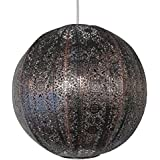 30cm Moroccan metal globe pendant bronze effect easy fit ceiling light decoration