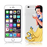 Disney PRINCESS trasparente in poliuretano termoplastico per iPhone-Cover per Apple iPhone 5, 5S, 5C, 6/6S plastica, (iphone 6/6s, Snowwhite) immagine