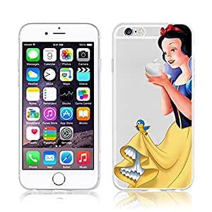Disney PRINCESS snowwhite transparente in poliuretano termoplastico per iPhone-Cover per iPhone 5,5S, 5C,6/6S,6+,iphone7 plastica(iphone 7,Snowwhite)