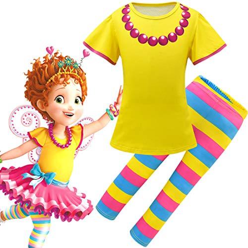 QYS Phantasie Nancy Cosplay Kleider Halloween Kostüm Dress up Kleidung für Kleinkind Mädchen Multi,Set,110cm (Für Dress Halloween Puppe Up Wie Eine)