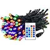Dimmable String Lights, 33ft 100 LEDS Rope Fairy Lighting Waterproof 10M DC Power With Remote Control Decoration for Christmas Tree,Garden,Holiday,Party,Wedding,Indoor & Outdoor,Patio (Multi color)