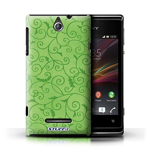 Kobalt® Imprimé Etui / Coque pour Sony Xperia E / Pourpre conception / Série Motif de la vigne Vert